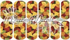 Queen of Decals - Autumn Leafy Mix