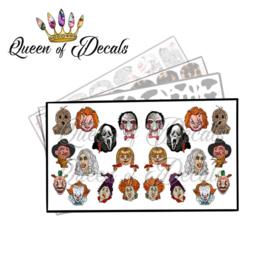 Queen of Decals - Horror faces 2 'NEW RELEASE'
