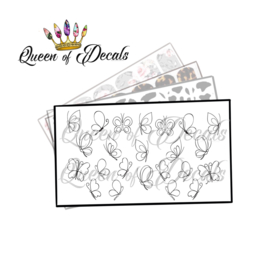 Queen of Decals - Butterfly Sketches 'NEW RELEASE'