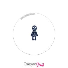 Glitter.Cakey - Skeleton Charm (Black) 'HALLOWEEN'