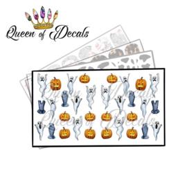 Queen of Decals - Pumpkins & Ghosts 'NEW RELEASE'
