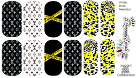 Queen of Decals - Black & Yellow