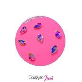 Crystal.Cakey - Biolette (5x8mm) 'Aurora Borealis'
