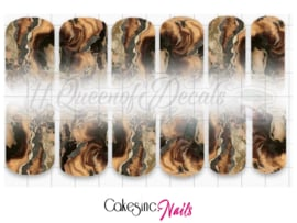 Queen of Decals - Brown Marble Ombré 'NEW RELEASE'