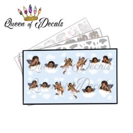 Queen of Decals - Cute Cherubs (Dark Skin-tone) 'NEW RELEASE'