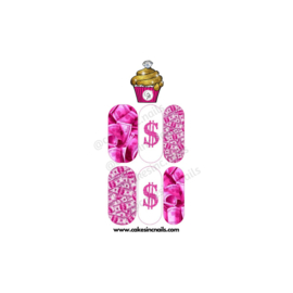 CakesInc.Nails - Pink Money Move$ (Mini) 'NAIL DECALS'