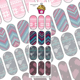 CakesInc.Nails -  Knitted Sweater Mixed 'NAIL DECALS'