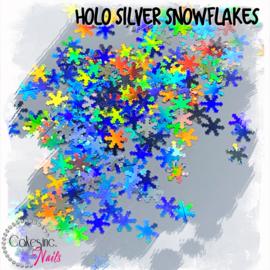 Glitter.Cakey - Holo Silver Snowflakes