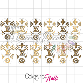 Queen of Decals - Beige & Cream V L 'NEW RELEASE'