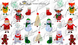 Queen of Decals -  Cute Christmas Characters