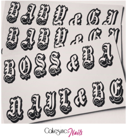 Queen of Decals x CakesInc.Nails - Custom Old English Font 'NEW RELEASE'