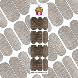 CakesInc.Nails - Croc Skin  Brown 'NAIL DECALS'
