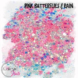 Glitter.Cakey - Pink Butterflies & Rain 'CUSTOM MIXED'