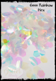 Glitter Blendz - 6mm Rainbow Hex