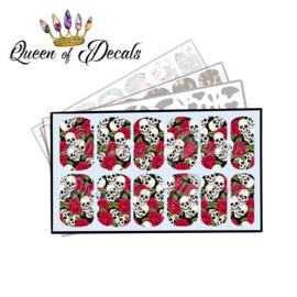 Queen of Decals - Skulls & Blood Roses 'NEW RELEASE'