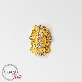 Glitter.Cakey - Gold Blossom Zircon Charm