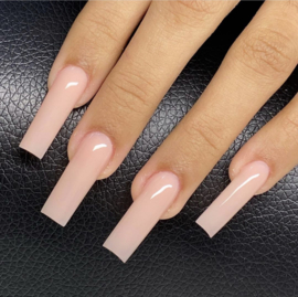 CakesInc.Nails - XXL Pre-Pinched  Square 500 💗 'CLEAR' Nail Tips