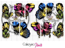 Queen of Decals - Large Negative Space Butterflies 'NEW RELEASE'