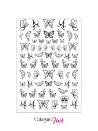 Glitter.Cakey - Black Butterflies 'Sticker Sheet R333'