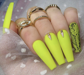 Queen of Decals -  Bright Yellow Snake Print 'NEW RELEASE'