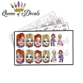 Queen of Decals -  Chucky & Bride 'NEW RELEASE'