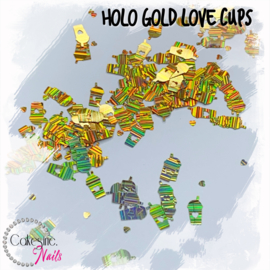 Glitter.Cakey - Holo Gold 'LOVE CUPS'