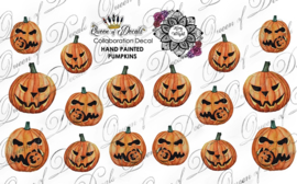 Queen of Decals - Hand Painted Pumpkins 'Kerry Wright'