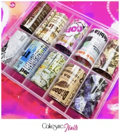 CakesInc.Nails - Transfer Foil Set #009 'Newspaper Inspired'