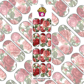 CakesInc.Nails - Red Roses 'NAIL DECALS'