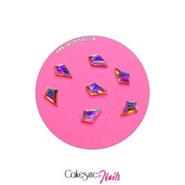 Crystal.Cakey - Kite (6x8mm) 'Aurora Borealis'