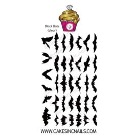 CakesInc.Nails - Black Bats 'NAIL DECALS'