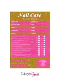 CakesInc.Nails - Nail Care 'CLIENT CARD'