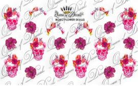 Queen of Decals - Boho Flower Skulls