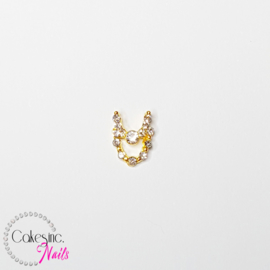Glitter.Cakey - Gold Crystal Double Chain Charm