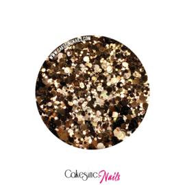 Glitter.Cakey - Chocolate 'METALLIC DOTS'