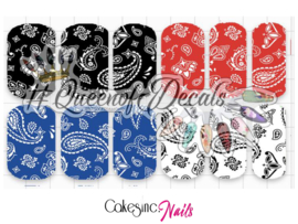 Queen of Decals - Mixed Paisley / Bandana Print 'NEW RELEASE'