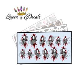 Queen of Decals - Emerging Skulls 'NEW RELEASE'