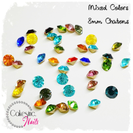 Crystal.Cakey - Mixed Colors 8mm Chatons