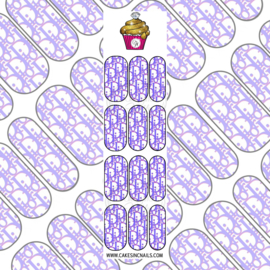 CakesInc.Nails - Purple & Pink DD 'NAIL DECALS'