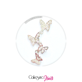 Cakey.Charms -  Luxury Butterflies 'SILVER ZIRCON'