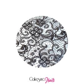 CakesInc.Nails - Transfer Foil 'Black Lace Pattern' Negative Space