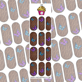 CakesInc.Nails - Knitted FF & Butterflies 'NAIL DECALS'