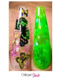 CakesInc.Nails - Transfer Foil 'Butterflies & Orchids' Negative Space