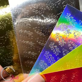 Glitter.Cakey - Leafs & Butterflies Sticker Sheet '16 PIECES SET'