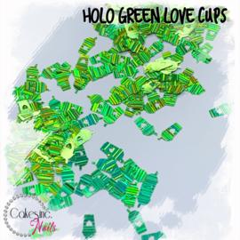 Glitter.Cakey - Holo Green 'LOVE CUPS'