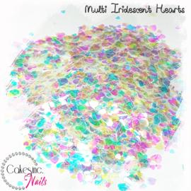 Glitter.Cakey - Multi Iridescent Hearts