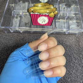 CakesInc.Nails - Pre-Pinched Square 500 'CLEAR' Nail Tips