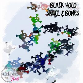 Glitter.Cakey - Black Holo Skull & Bones