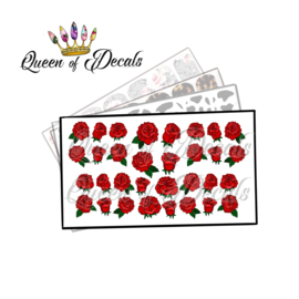 Queen of Decals - Bed of Roses (Blood Red) 'NEW RELEASE'