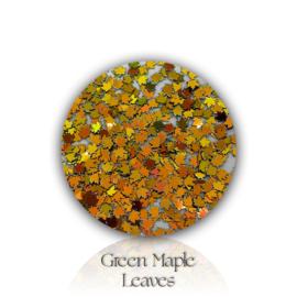 Glitter.Cakey - Green Maple Leaves